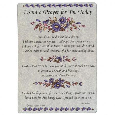Tactueux image for i said a prayer for you today printable