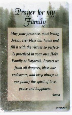 Nurses Prayers and Poems http://www.ebay.com/itm/PRAYER-FOR-MY-FAMILY-Wallet-Prayer-Card-Inspirational-/280468135003