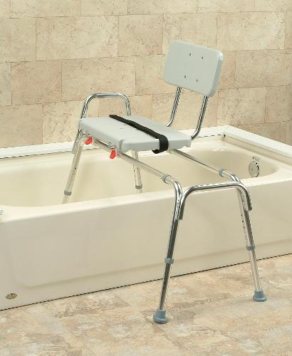 Sliding Shower Bath Tub Seat Transfer Bench Chair