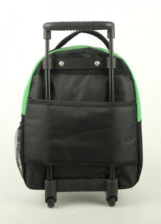 green shrek 12 rolling backpack travel small school toddler wheeled bag new. Black Bedroom Furniture Sets. Home Design Ideas
