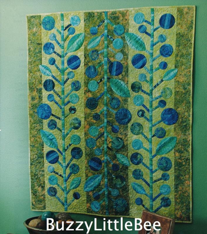 Quilt Pattern Blueberry Jam Blue Batik Fabrics Wall