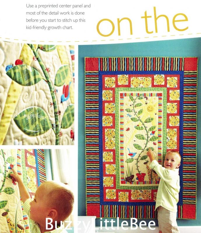 Quilt Pattern~On the Up & Up~Happy Growth Chart~Uses Pre-Printed Panel Fabric eBay