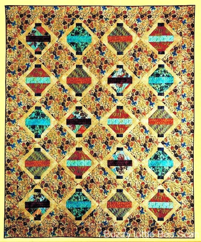 Oriental Lanterns Quilt Pattern~Chinese~Asian~Large quilt!~91.8