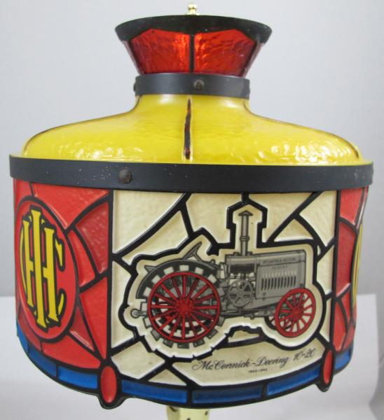 International Harvester Table Lamp : Vintage tiffany style advertising ihc international