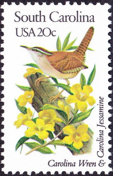 Us 1982 20 Cents South Carolina State Bird Flower Perf 11 Issue 1992a Nh Ebay