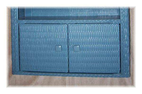 wicker kitchen or bathroom cabinet w doors wall or stand alone ebay