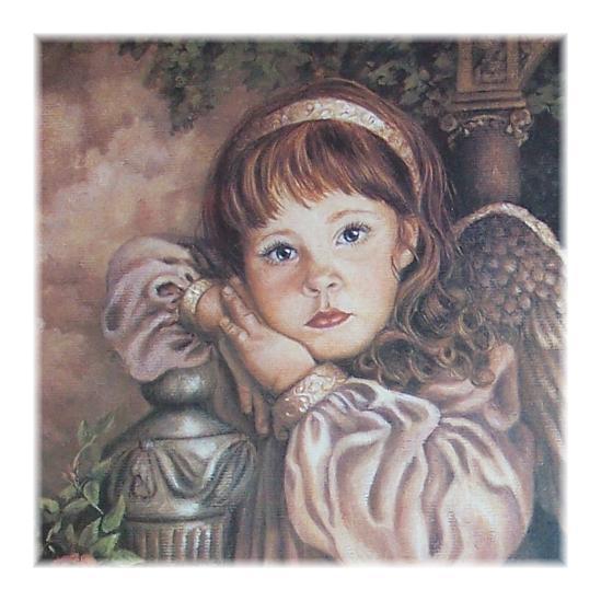 Vintage Homco Home Interior Angel Unaware Picture Framed