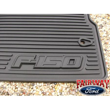 09 10 ford f 150 f150 oem black rubber all weather floor. Black Bedroom Furniture Sets. Home Design Ideas