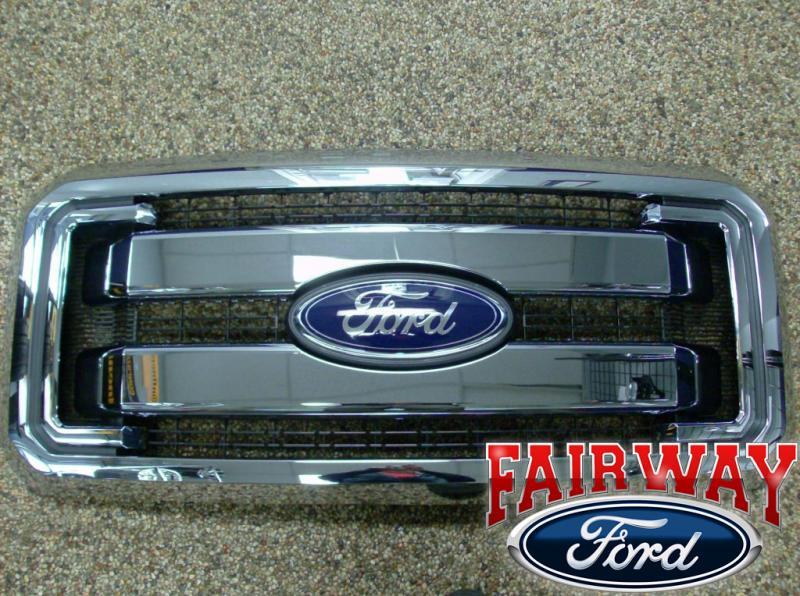 Duty F250 F350 F450 F550 Genuine Ford Chrome Grille Grill New