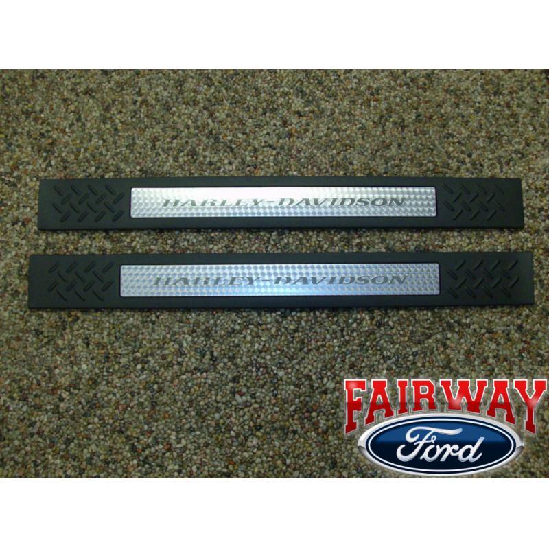 09 10 11 12 F 150 F150 Genuine Ford Harley Davidson Door Sill Plates