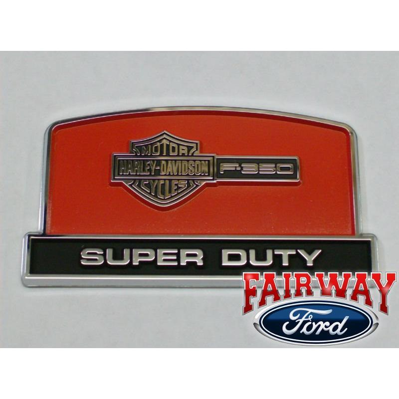 Genuin Ford Parts Super Duty F350 Harley Davidson Console Lid Emblem New
