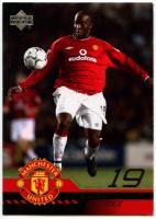 C361 Dwight Yorke Manchester United #113 Upper Deck 2001 Football Trade Card