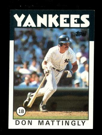 Don Mattingly Yankees 180 Topps 1986 Baseball Card Ebay