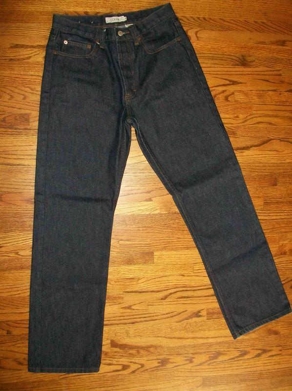 New J Crew Dark Wash Button Fly Denim Jean Pants 31 R