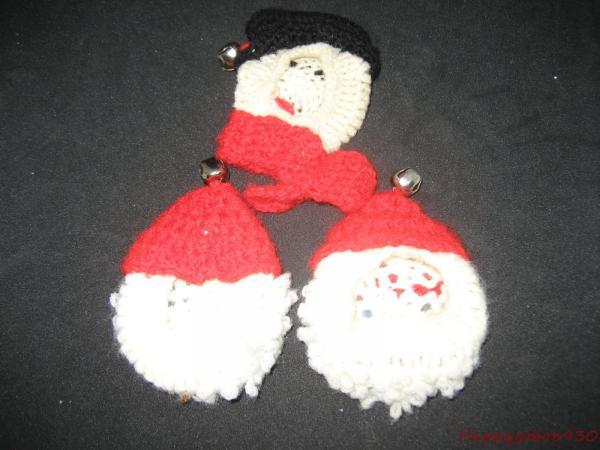 Crochet Santa Claus Door Knob Cover Vintage Santa Clause Christmas