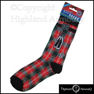 Knitting Pattern For Scottish Kilt Socks : Scottish Red Tartan Kilt Socks Mens One Size Scotland New eBay