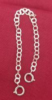 4 INCH STERLING  SILVER PLATED 4MM NECKLACE EXTENDER WITH SPRING RING CLASP