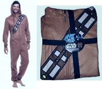 Hooded Union Suit   Size M MSRP $60 Mens Chewbacca Wookie Star Wars Pajama 1 Pc