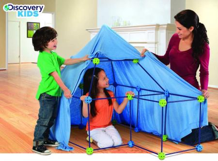 Discovery kids 77 pc build play construction fort new for Discovery 24 shop