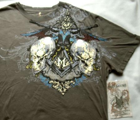 Monarchy T Shirts. Foil Skulls T-shirt XXXL