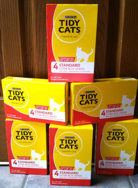 24 Purina Tidy Cats Litter Box Liners Multiple Cats Lot 6