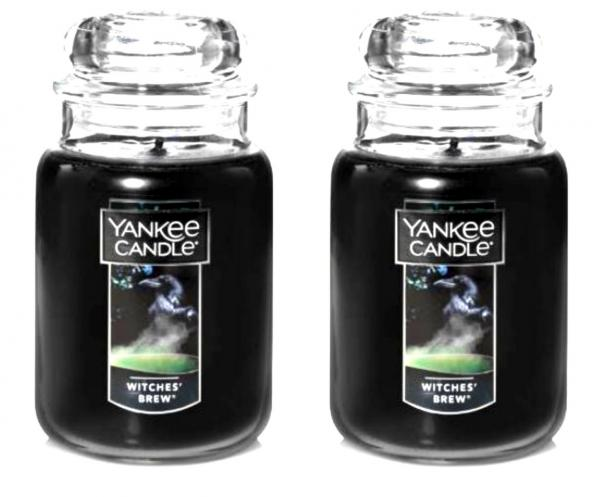 2 YANKEE CANDLE WITCHES BREW PATCHOULI BLACK-HALLOWEEN ...