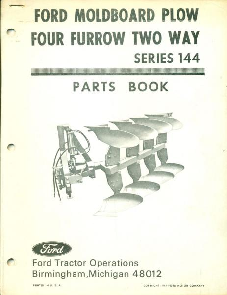 Moldboard Plow Parts : Ford parts book moldboard plow pa a af ebay