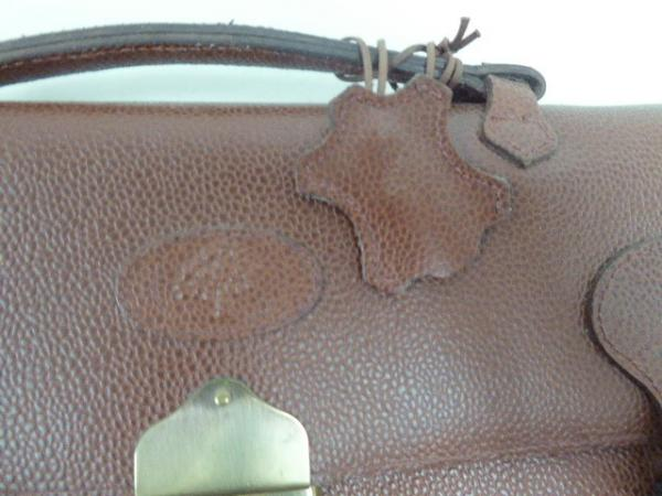 NEW MULBERRY ENGLAND BROWN PEBBLE LEATHER BRIEFCASE ATTACHE COMPUTER ... f3bec30bb405b
