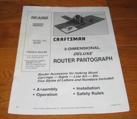 router alphabet templates - sears craftsman 3d router pantograph w number alphabet