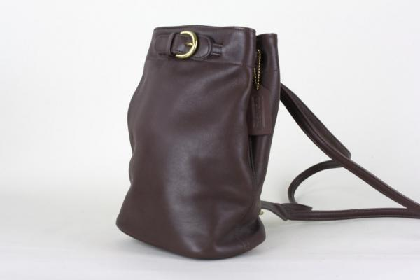 Coach Brown Leather Sling Backpack Purse Bag Tote EXC MINT ...