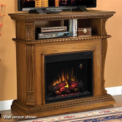 Discount Oak Electric Fireplace Cabinet Mantel 96020 Ebay