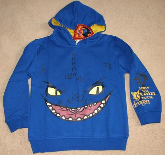 HOW TO TRAIN YOUR DRAGON Face Fleece Hoodie Sweater Shirt Pullover sz
