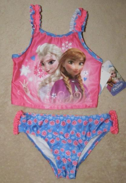Disney Frozen Anna Amp Elsa 2pc Swimsuit Bathing Swim Suit