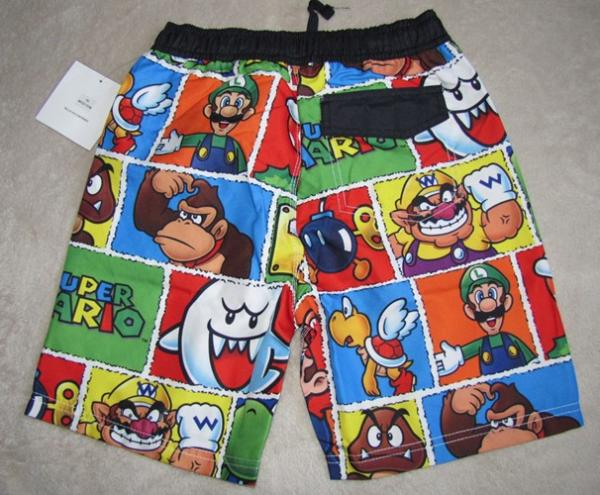 Nintendo Super Mario Bros Characters Swim Trunks Beach Shorts Sz 4