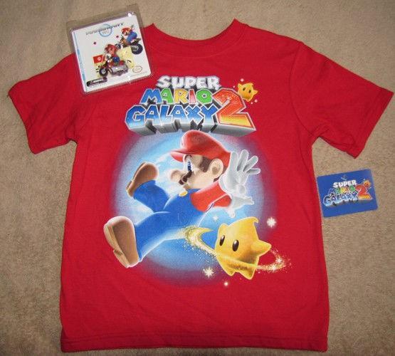 Nintendo Super Mario Galaxy 2 Game Red T Shirt 6 7 Toy