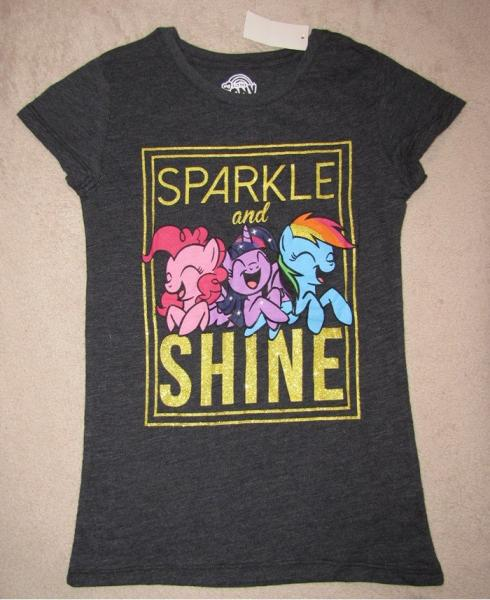 My little pony sparkle and shine blk glitter s s tee - Sparkle and shine cartoon ...