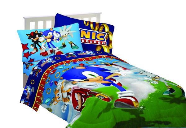 Sonic The Hedgehog X Microfiber Twin Sz Comforter Bed