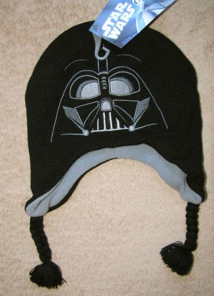 Knitting Pattern Darth Vader Hat : STAR WARS Lego *Darth Vader* Knit Winter Fleece Paruvian Hat 4+