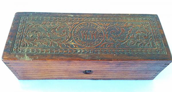 Details About Antique Wheeler Wilson Sewing Machines Ornate Wooden Box Advertising