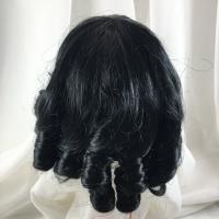 """12//13"""" Ringlet Curls Black Doll Wig Reborn OOAK BJD Bisque Repair JUDIE"""