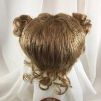 "Blonde Doll Wig Reborn OOAK BJD Ceramic Repair STEPHY 12//13"" Ponytails Bangs P"