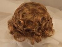 "Sz  15//16/"" Curly Top Auburn Doll Wig Baby Reborn OOAK Ceramic  Repair FRANCIS"