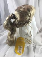 "12//13"" Curls Bangs Pale Blonde Doll Wig Reborn OOAK BJD Bisque Repair PETA"