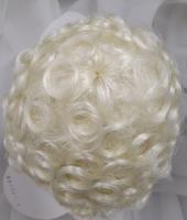 """Sz 11//12/"""" Curly Baby Blonde Doll Wig Reborn OOAK BJD Bisque Repair FRANCIS"""