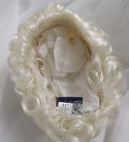 """Sz 11//12/"""" Curly Platinum Blonde Baby Doll Wig Reborn OOAK BJD Repair FRANCIS"""