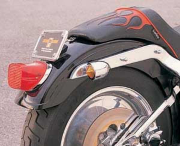Harley Softail Fenders : Custom rear fender early style reveal stamped for harley