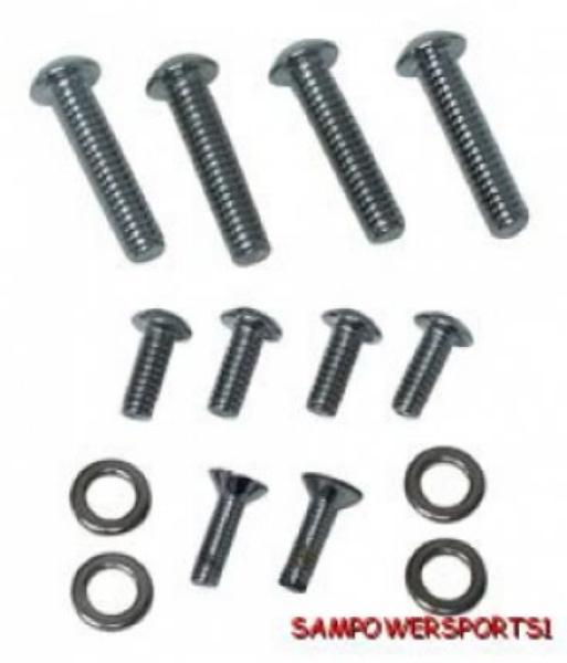 colony chrome switch housing button head screw kit for harley 96