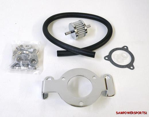 High Flow Air Cleaner Harley : High hi flow air cleaner bracket gasket breather filter