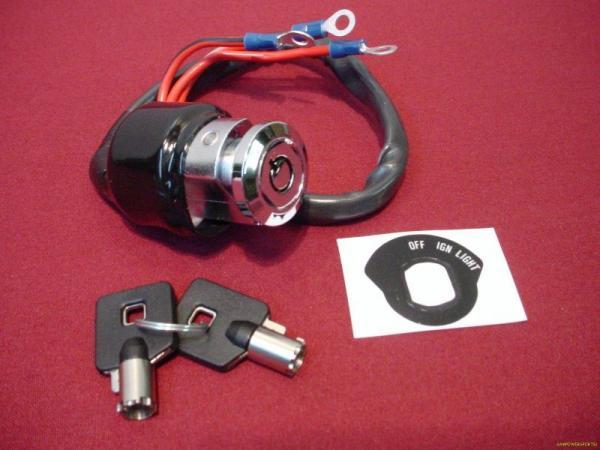 gm ignition switch wiring diagram kill switch ignition switch chrome round key 3 position 3 wire harley ... #1