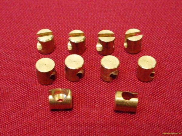 Throttle Cable Ferrule : Pack brass ferrules throttle idle cable for harley
